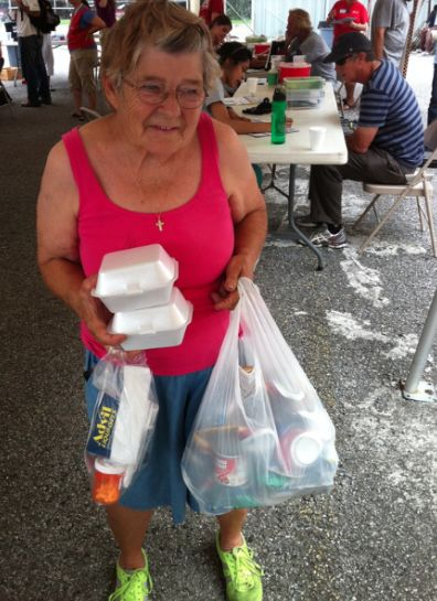 Meet Loretta – 78 Years Old and Homeless – Under a Bridge.